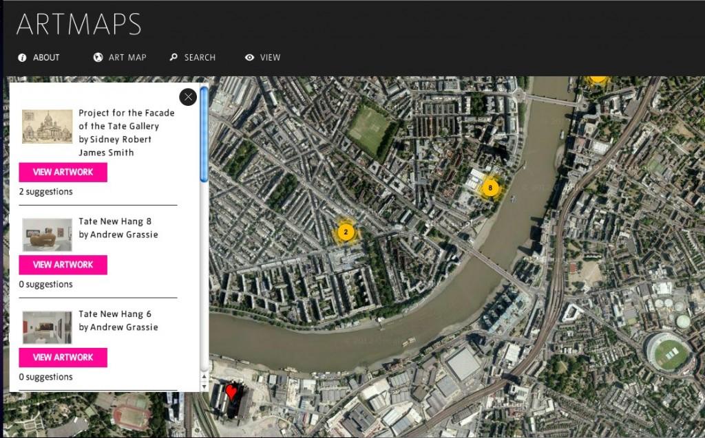 fig 1  Art Maps Screen shot