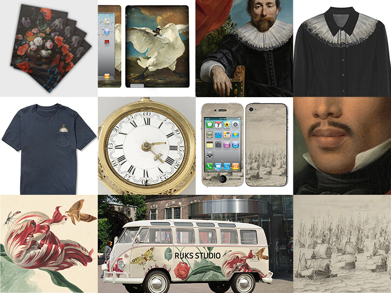 Figure 12: From shirts to tableware, and from wallpaper to scooters, anything is possible using Rijksstudio