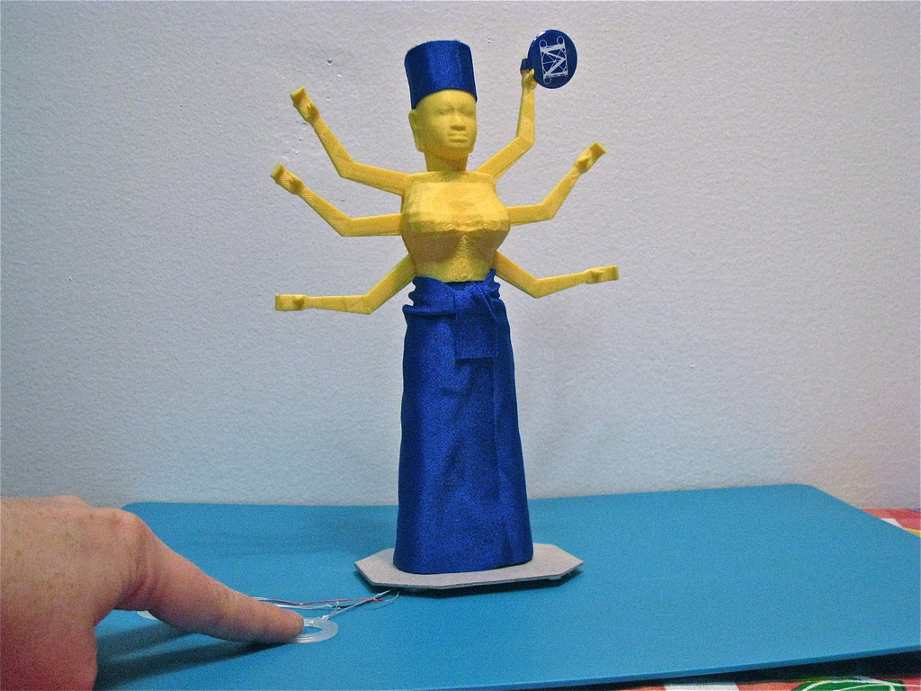 Figure 3: Anney Fresh and Keith Ozar's animated reinterpretation of the Metropolitan Museum of Art's Standing Female Deity, possibly Durga