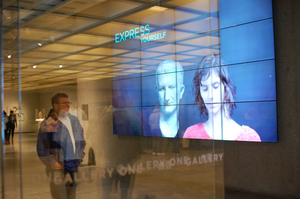 Figure 9: The Beacon, encouraging visitors to engage within Gallery One. Photo courtesy of Local Projects
